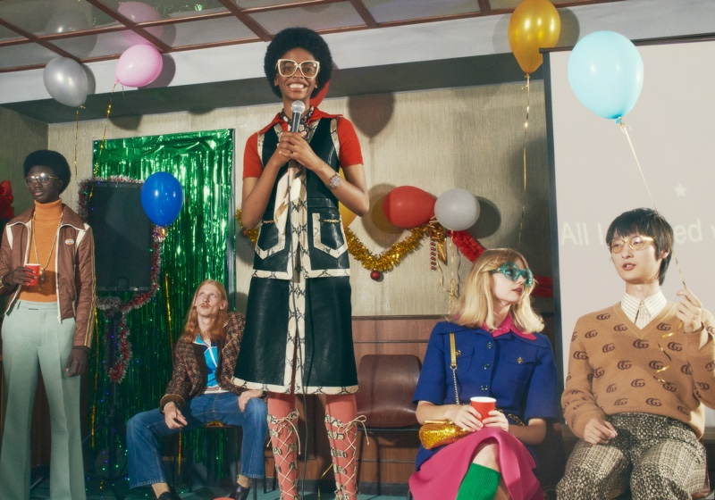 Karaoke takes the spotlight in Gucci Holiday 2020 gift campaign.