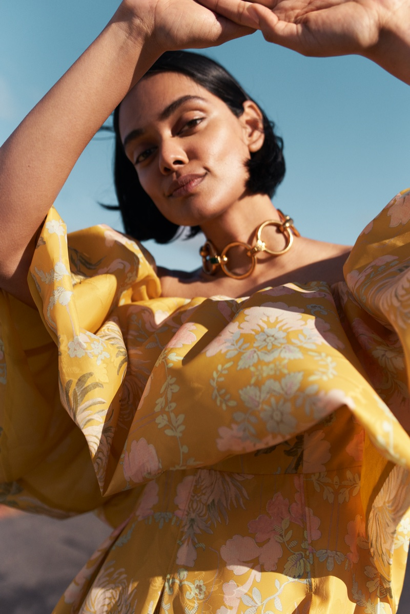 Zinnia Kumar poses for H&M Conscious Exclusive fall-winter 2020 campaign.