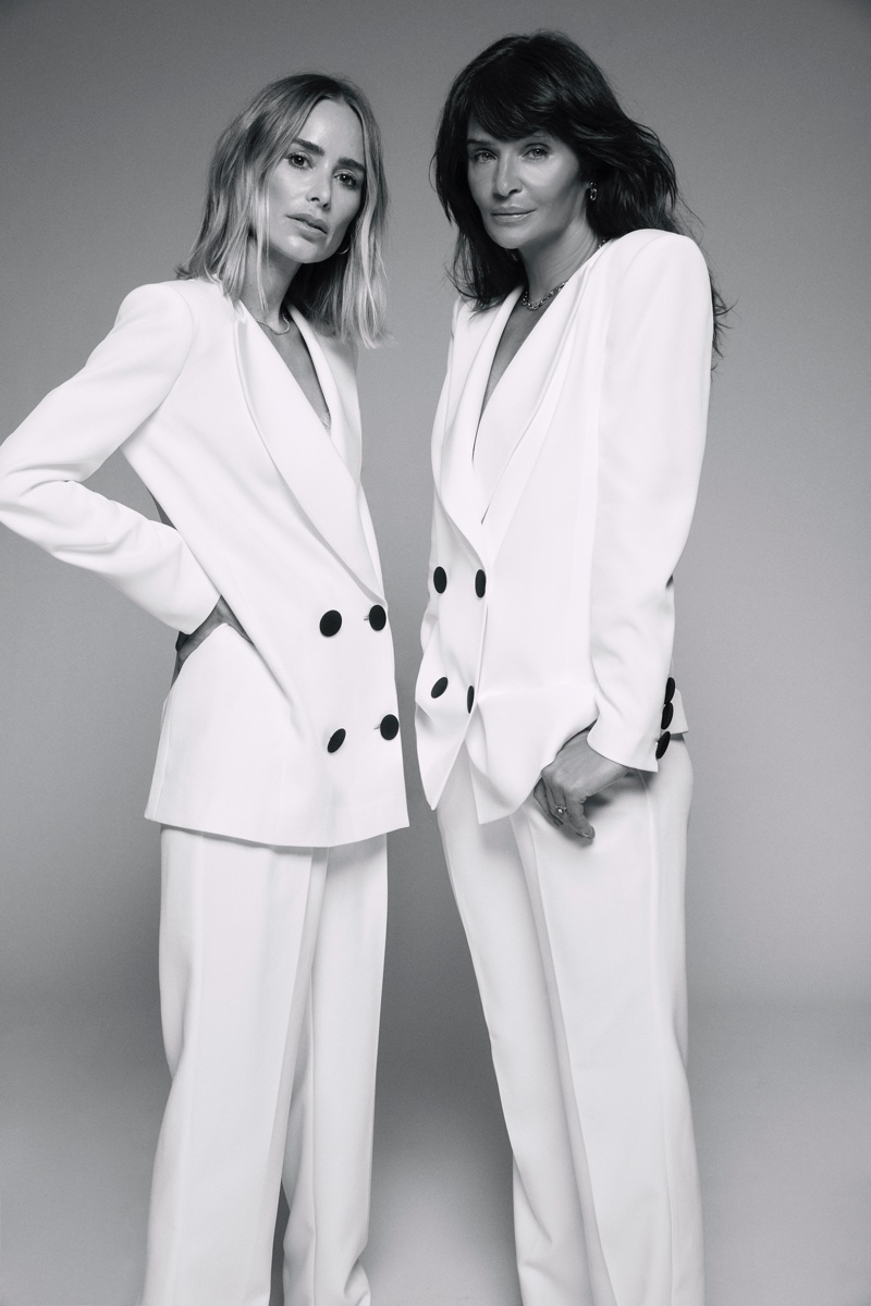 ANINE BING x Helena Christensen feature suiting for capsule collection.