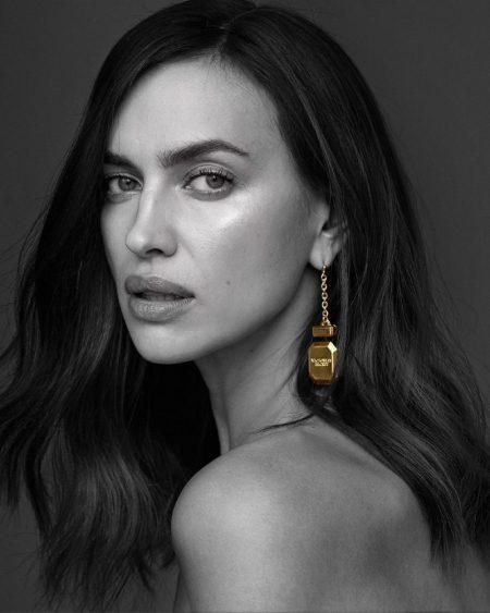 Irina Shayk stars in Victoria's Secret Bombshell Gold fragrance campaign.