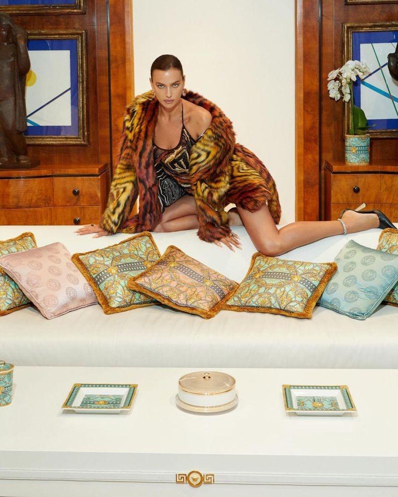 Irina Shayk Stuns in Versace for Vogue Czechoslovakia