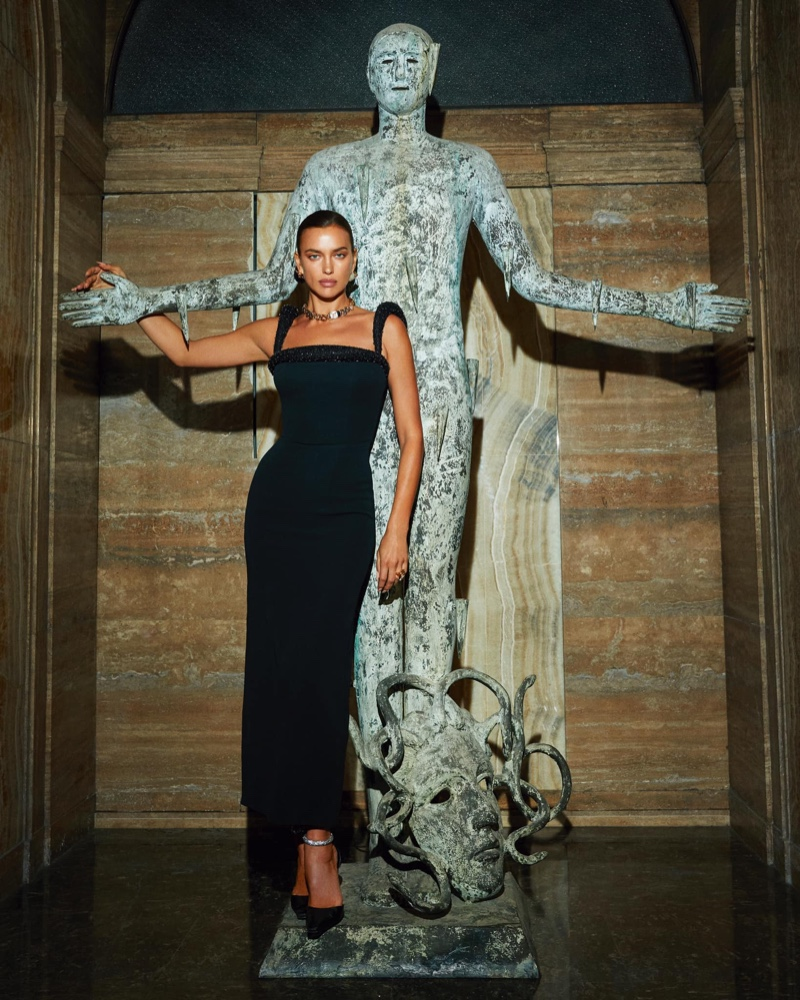 Irina Shayk Stuns in Versace for Vogue Czechoslovakia