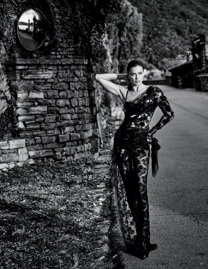 Irina Shayk Poses in Super Luxe Looks for Vogue Germany