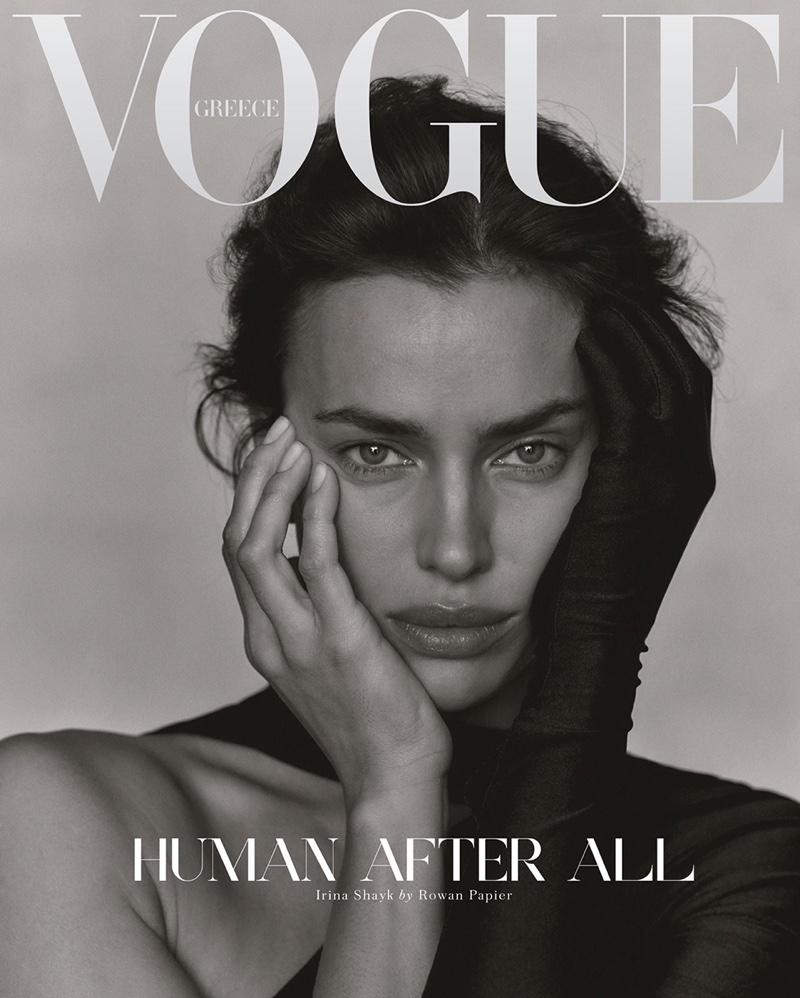 Irina Shayk on Vogue Greece December 2020 Cover.