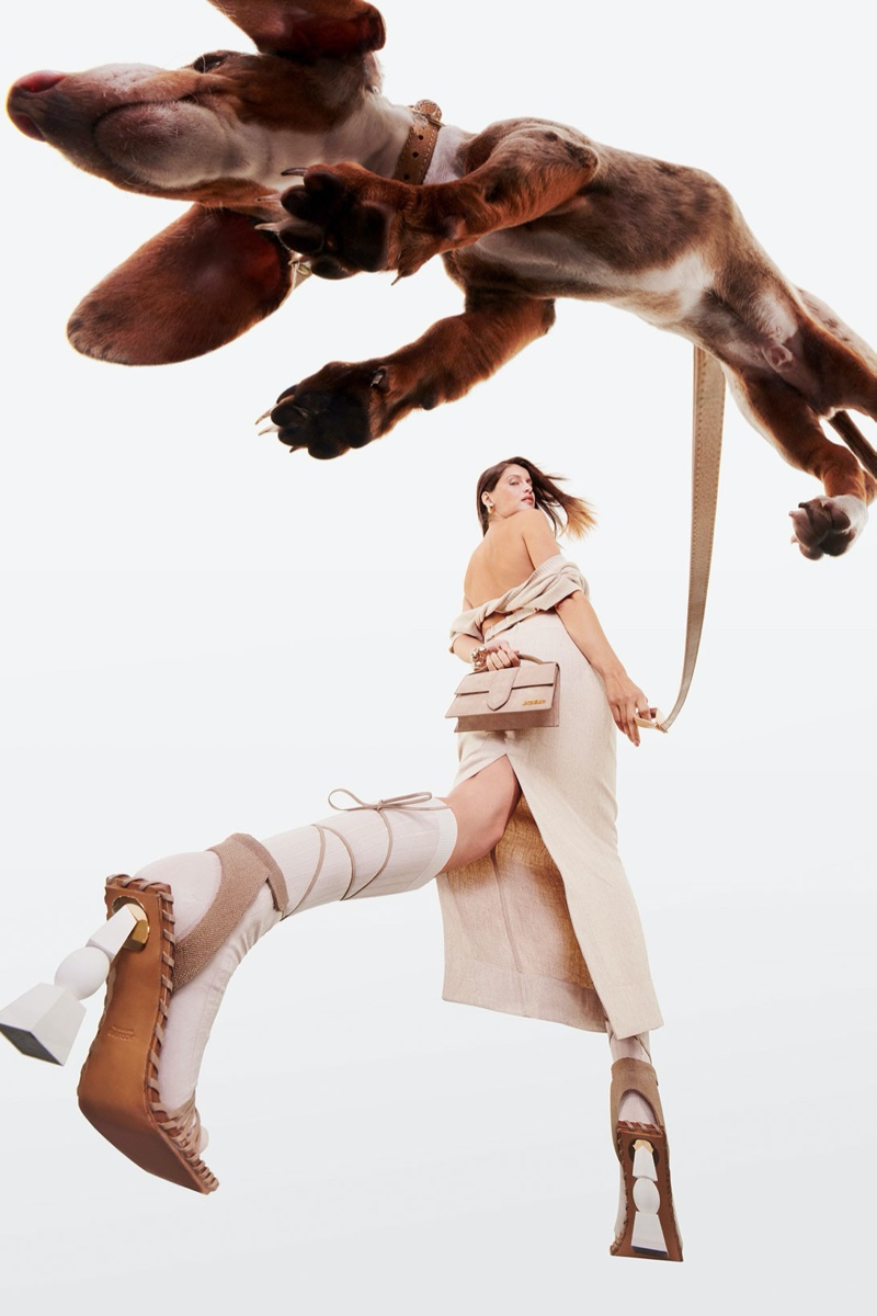 Jacquemus' dog Tou Tou poses for his fall-winter 2020 campaign.