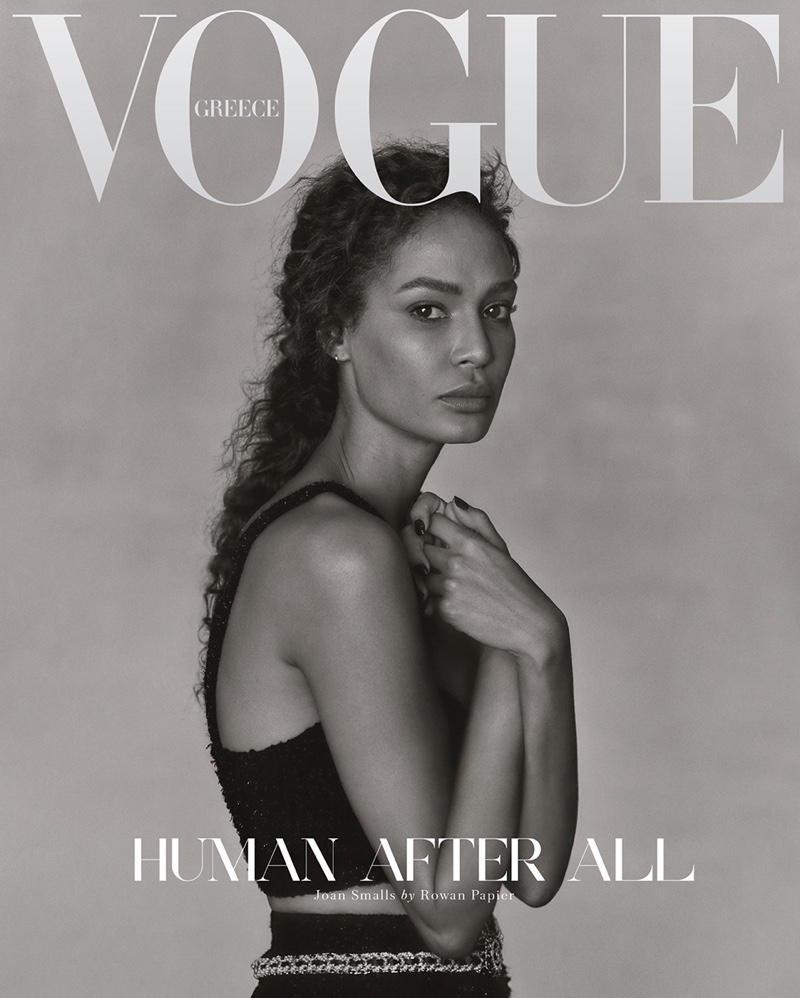 Joan Smalls on Vogue Greece December 2020 Cover.