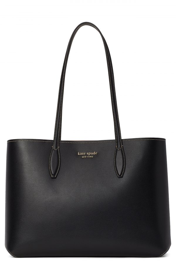 Kate Spade New York All Day Large Leather Tote - Black