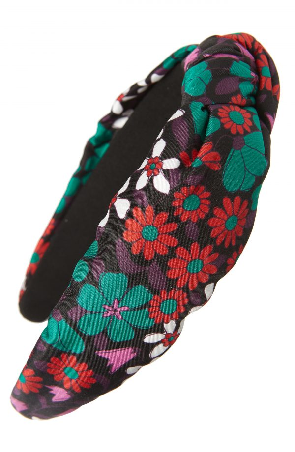 Kate Spade New York Floral Medley Knot Silk Headband, Size One Size - Pink