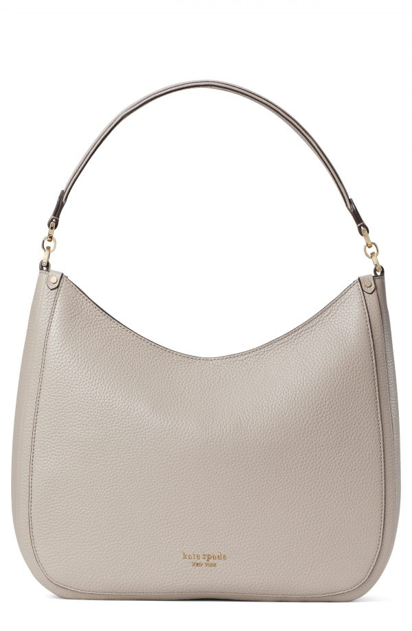 Kate Spade New York Roulette Large Leather Hobo Bag - Beige
