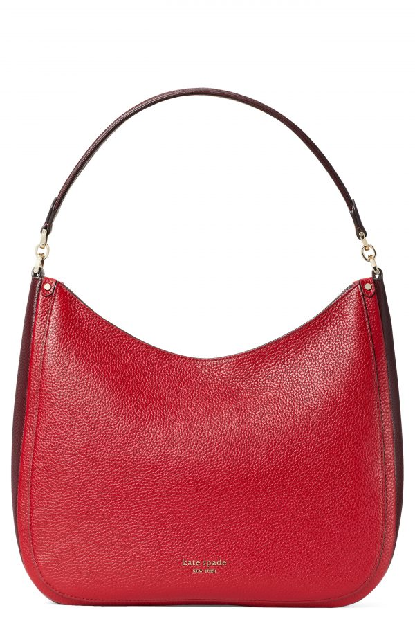 Kate Spade New York Roulette Large Leather Hobo Bag - Red