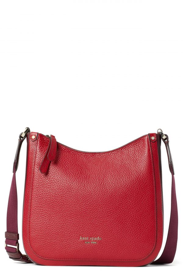 Kate Spade New York Roulette Medium Leather Messenger Bag - Red