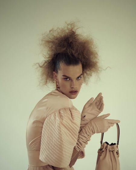 Kim Riekenberg Embraces Fendi Fashion for Dolce Vita Magazine