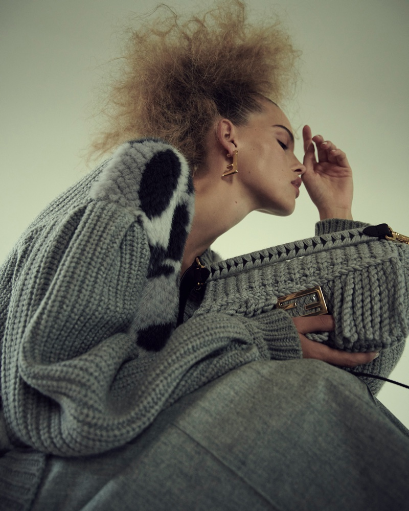 Kim Riekenberg Embraces Fendi Fashion for Dolce Vita Magazine