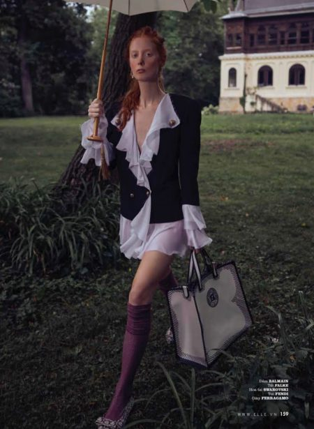 Laura Roth Models Eclectic Styles for ELLE Vietnam