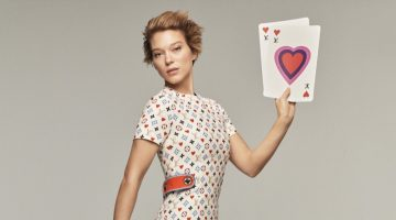 Lea Seydoux fronts Louis Vuitton cruise 2021 campaign.
