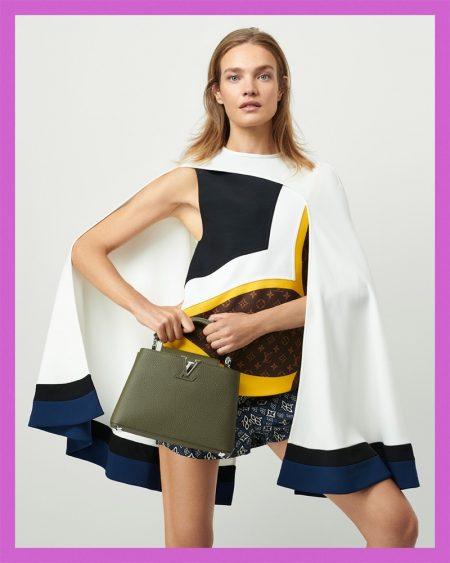 Natalia Vodianova fronts Louis Vuitton resort 2021 campaign.