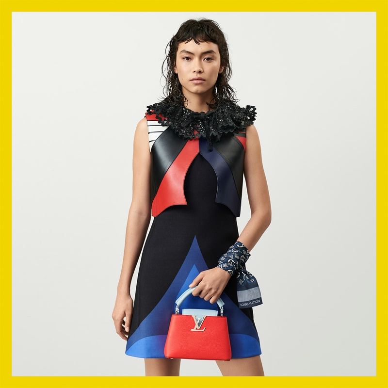 Maryel Uchida appears in Louis Vuitton resort 2021 campaign.