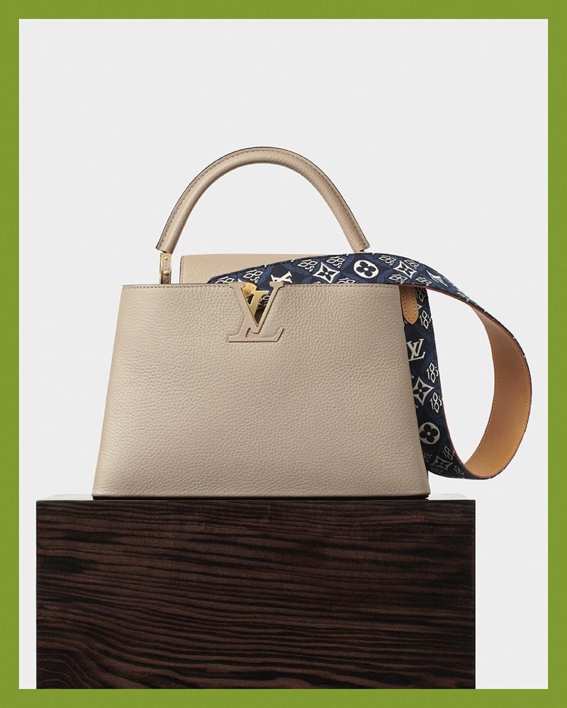 Louis Vuitton features Capucines bag in resort 2021 advertising campaign.