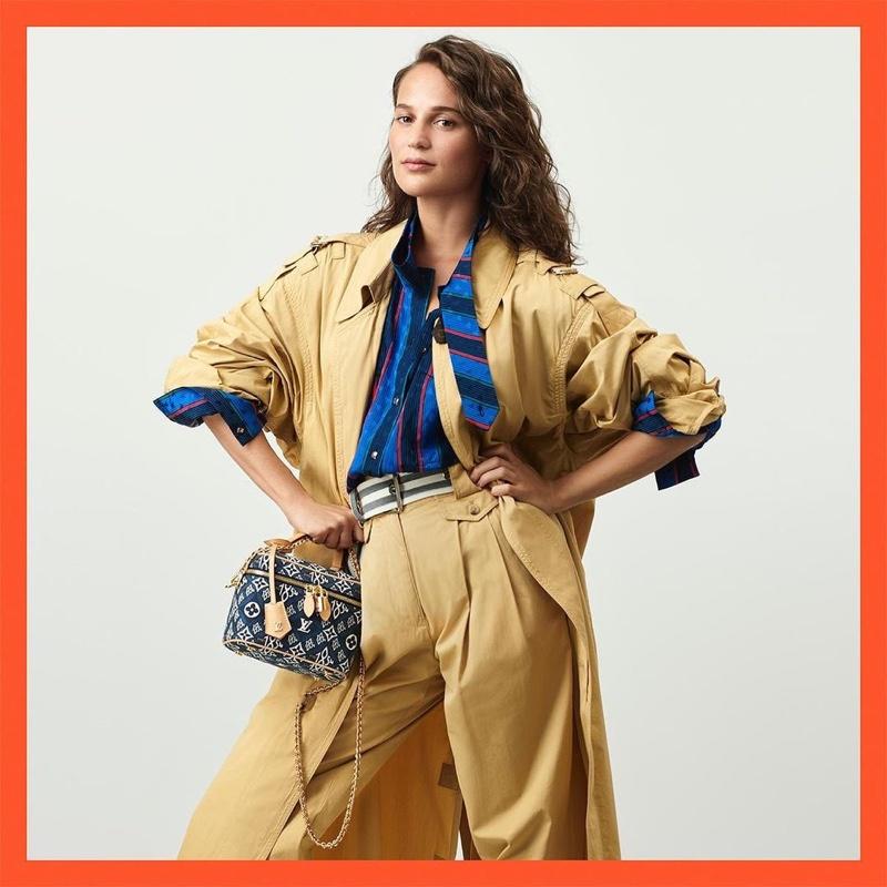 Alicia Vikander stars in Louis Vuitton resort 2021 campaign.