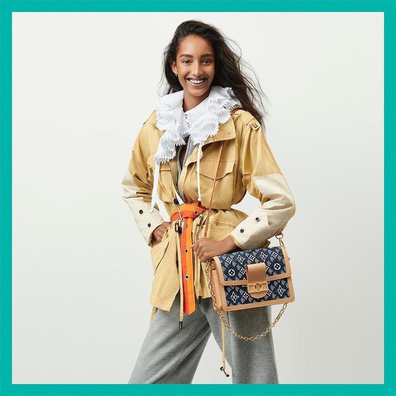 Mona Tougaard stars in Louis Vuitton resort 2021 campaign.
