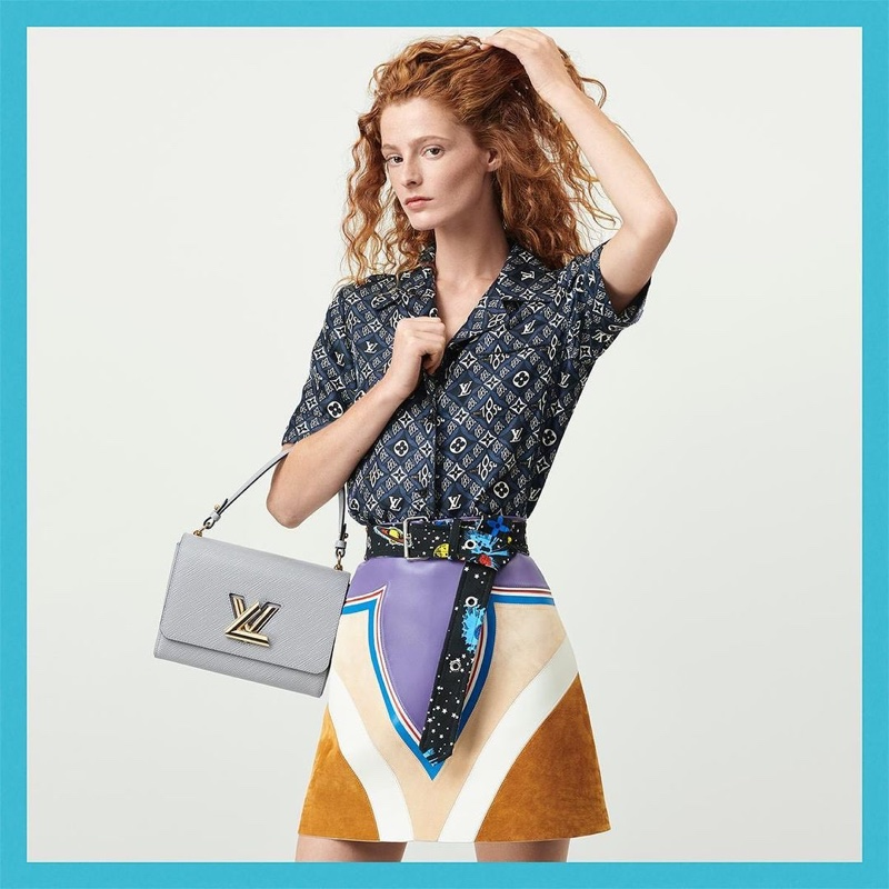 Clementine Balcaen fronts Louis Vuitton resort 2021 campaign.