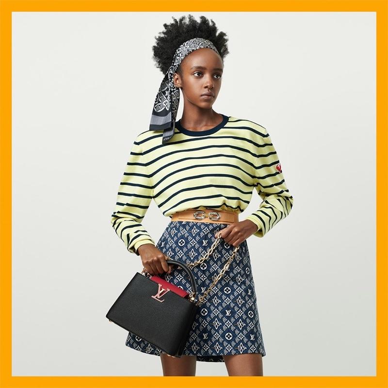 Metta Irebe appears in Louis Vuitton resort 2021 campaign.