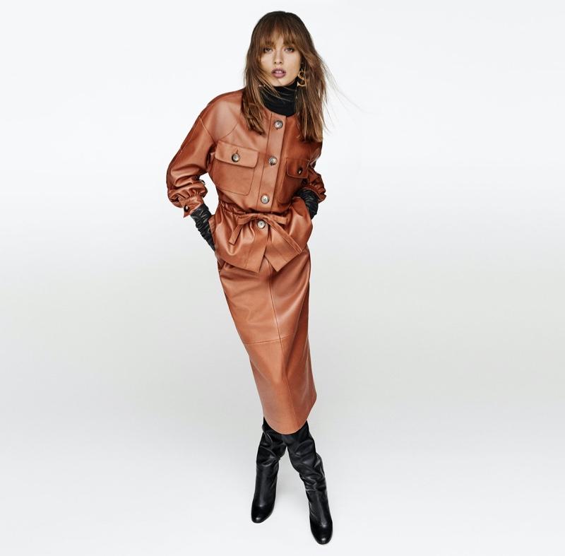 Giulia Maenza stars in Luisa Spagnoli fall-winter 2020 campaign.