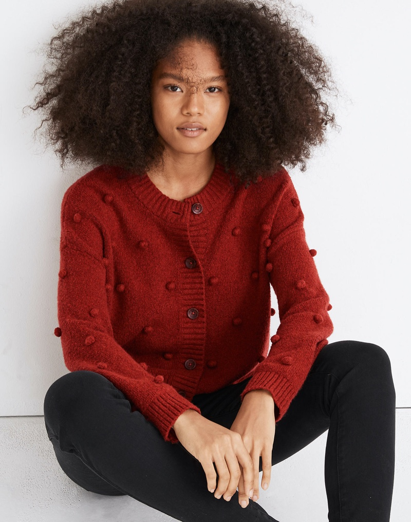 Madewell Bobble Colburne Cardigan Sweater $89.50