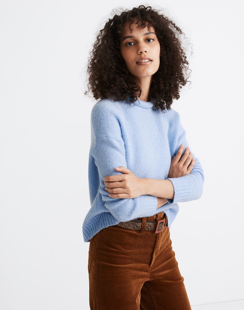 Madewell Fulton Pullover Sweater in Pale Dawn $79.50
