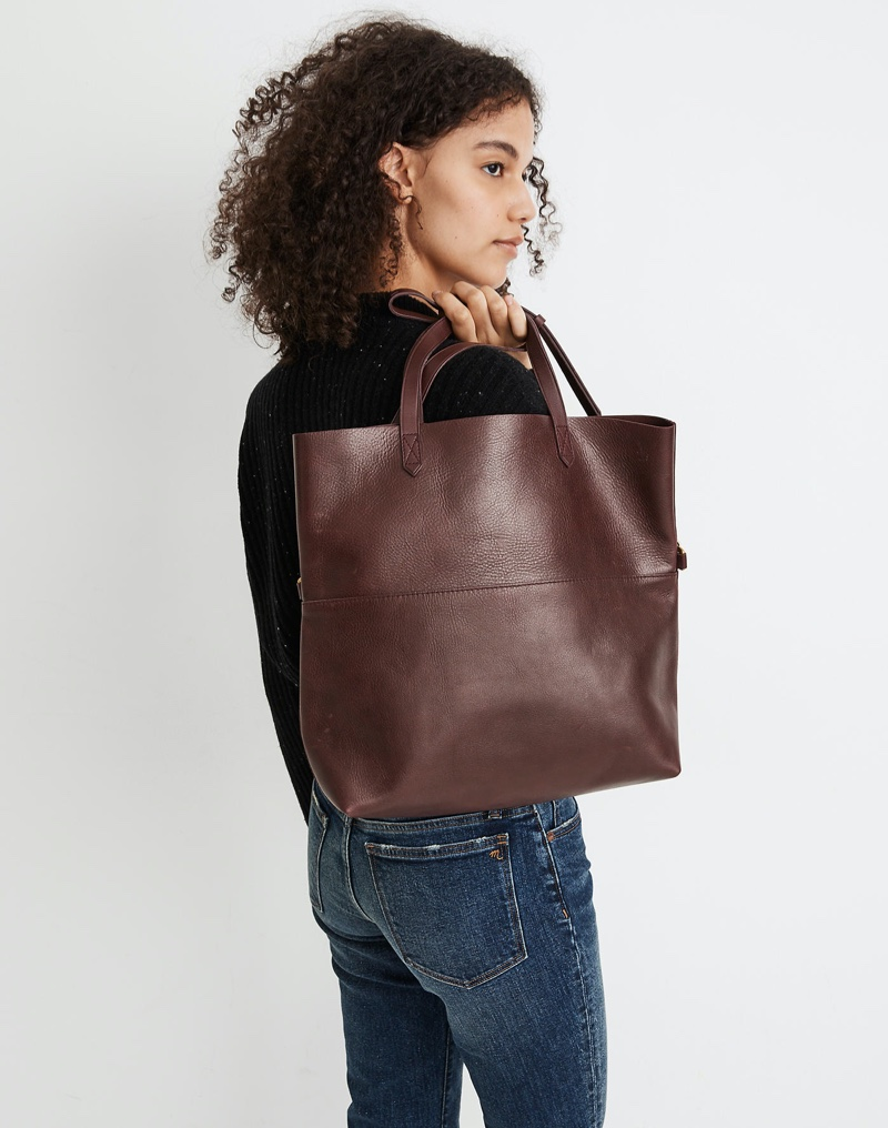 Madewell The Foldover Transport Tote in Dark Cabernet $188