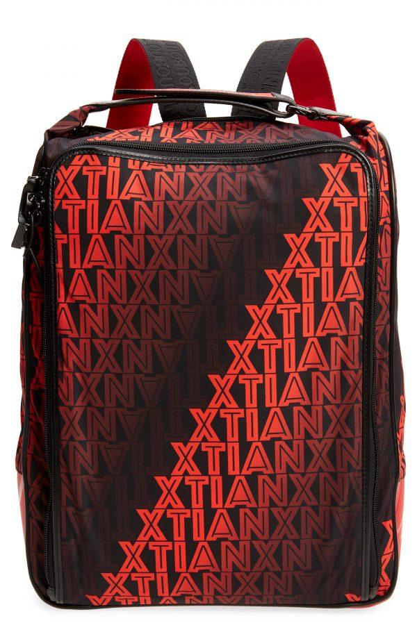 Men's Christain Louboutin Hop'N Zip Xtian Degrade Backpack - Black