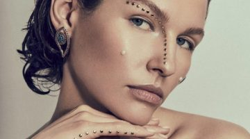 Misha Kapustkina Wears Embellished Beauty for L'Officiel Arabia