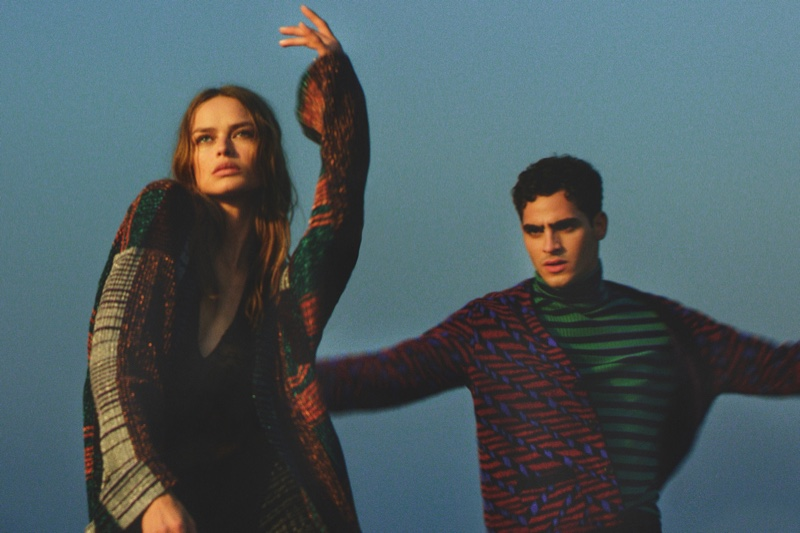 Missoni showcases its famous prints in winter 2020 campaign.