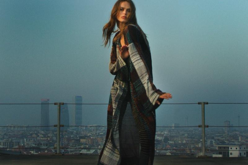Dutch model Birgit Kos appears in Missoni winter 2020 campaign.