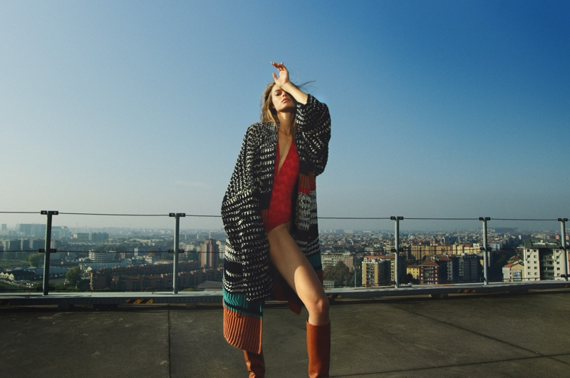 Birgit Kos strikes a pose in Missoni winter 2020 campaign.