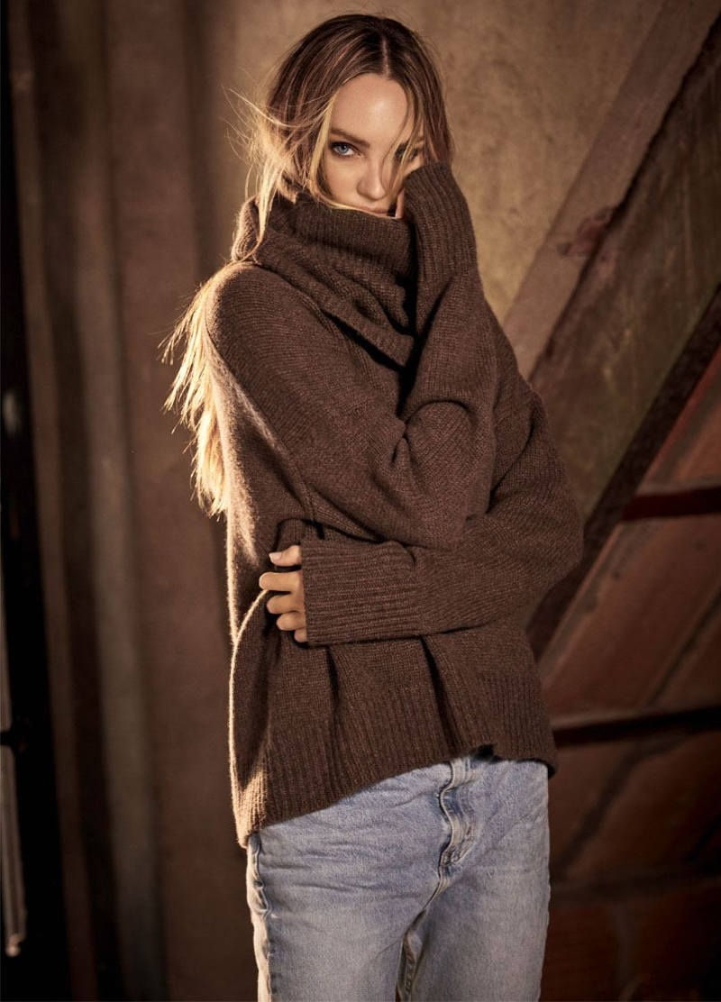 Candice Swanepoel stars in Naked Cashmere fall-winter 2020 campaign.