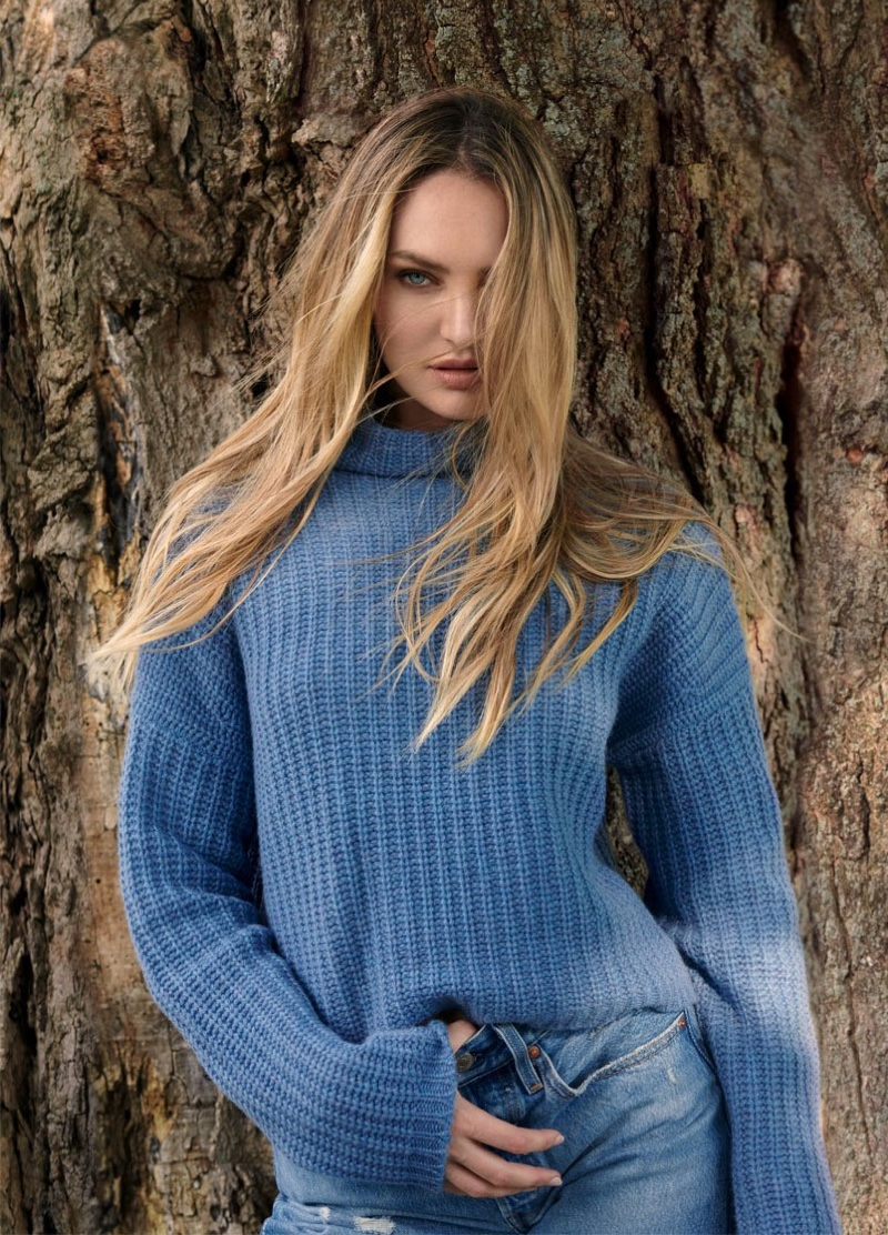 Candice & Jasmine Embrace Knits in Naked Cashmere Fall 2020 Campaign