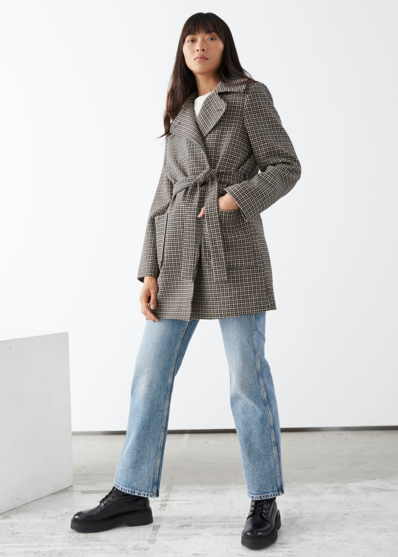 & Other Stories Belted Single Breasted Coat $219