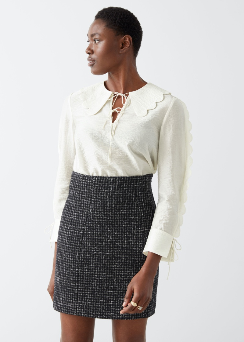 & Other Stories Wool Blend Mini Skirt $69