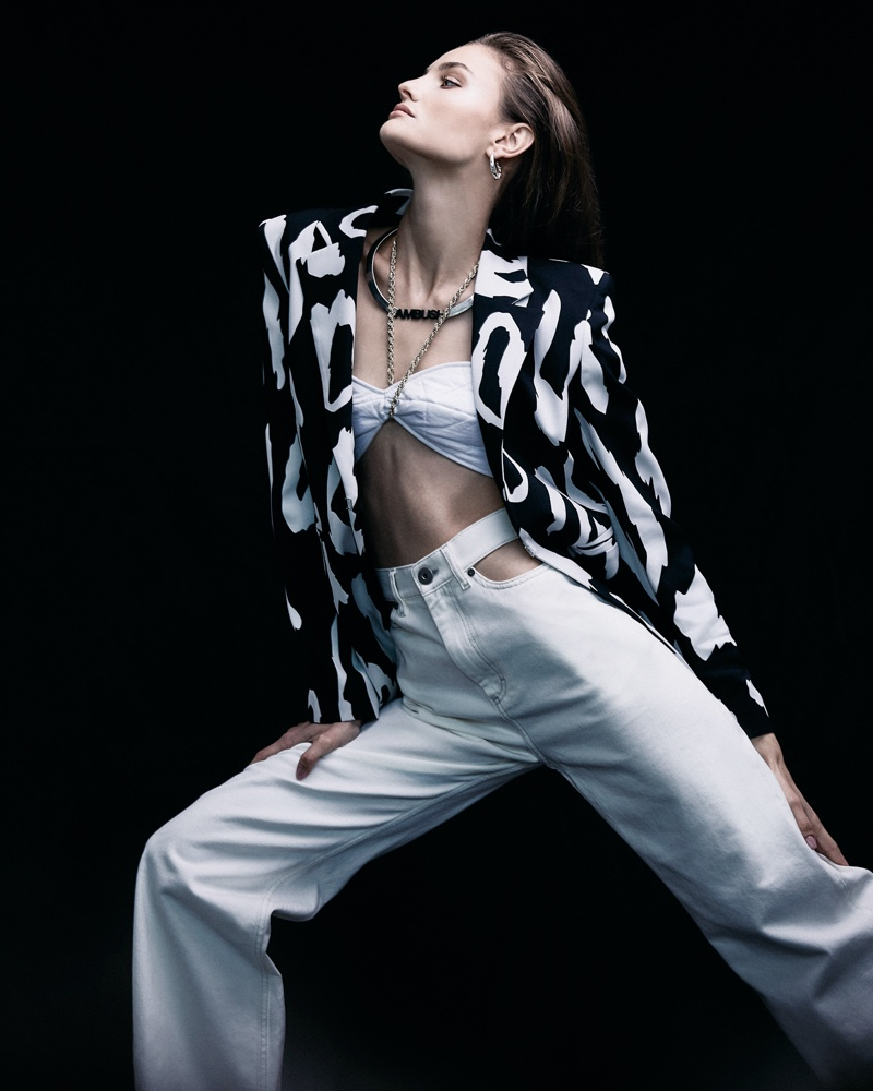 Paula Cioltean Poses in Chic Looks for Cosmopolitan Romania