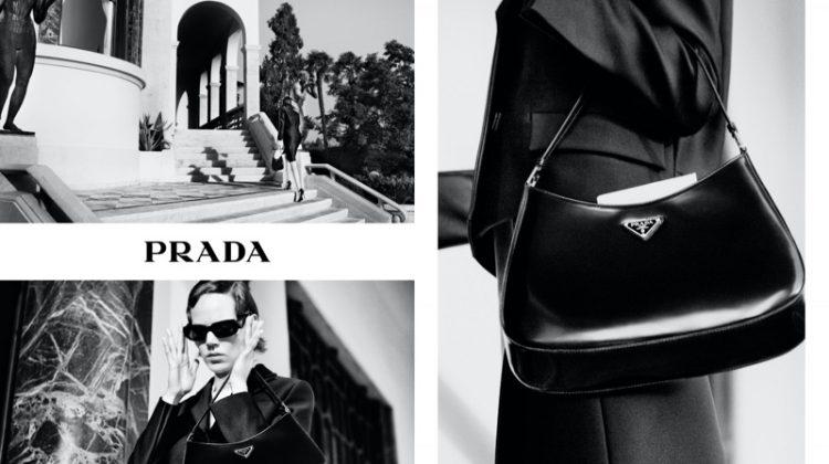 Freja Beha Erichsen stars in Prada Holiday 2020 campaign.