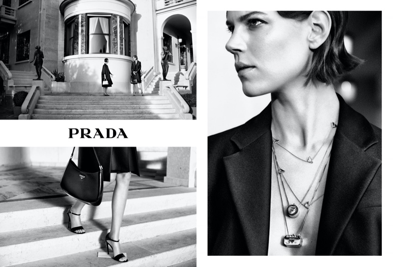 An image from Prada's holiday 2020 advertising campaign.