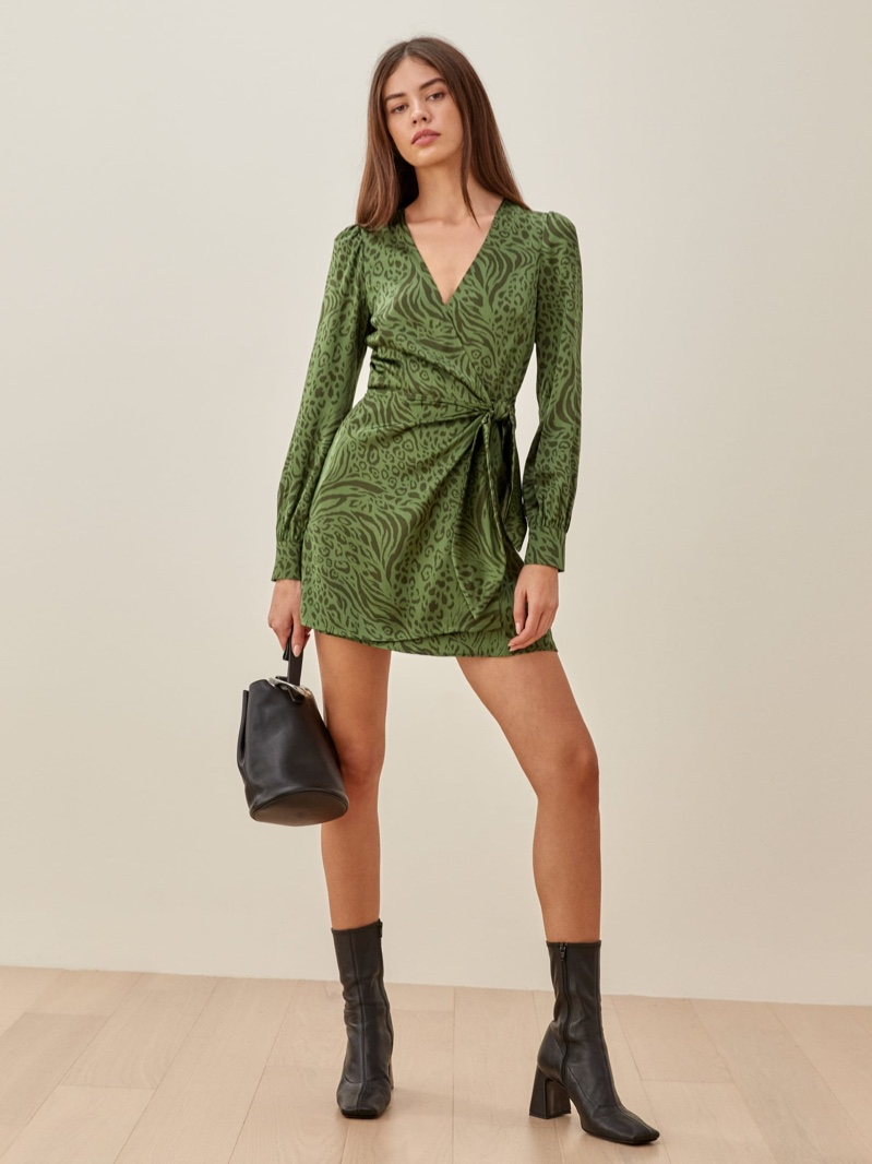 Reformation Kenna Dress in Jungle $248