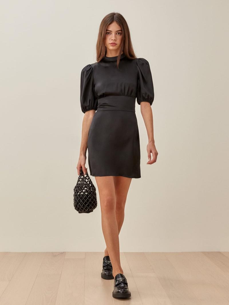 Reformation Marsha Dress in Black $248