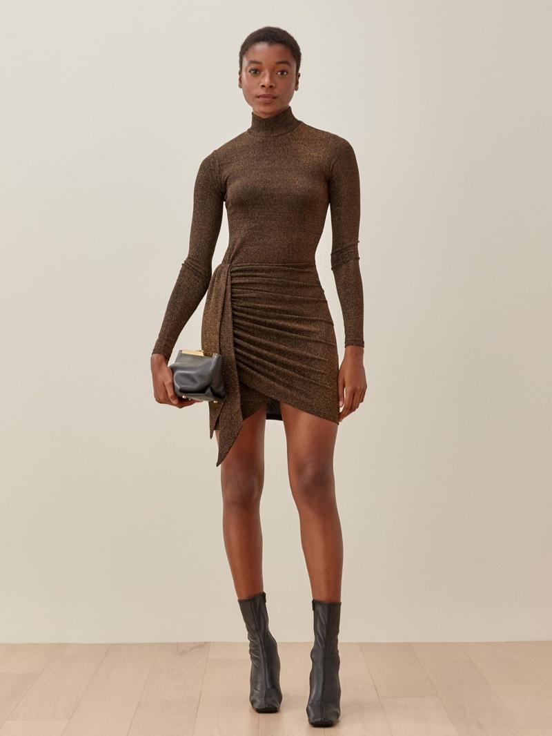 Reformation Paprika Dress in Nighttime $148