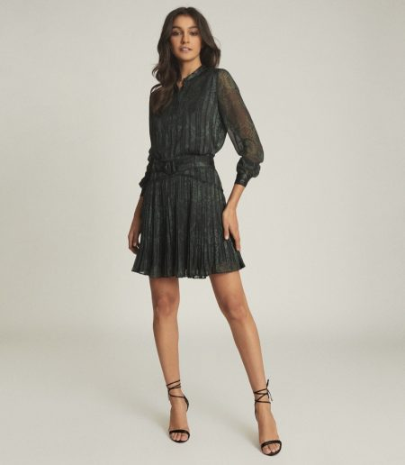 Reiss Gillian Snake-Print Mini Dress $370