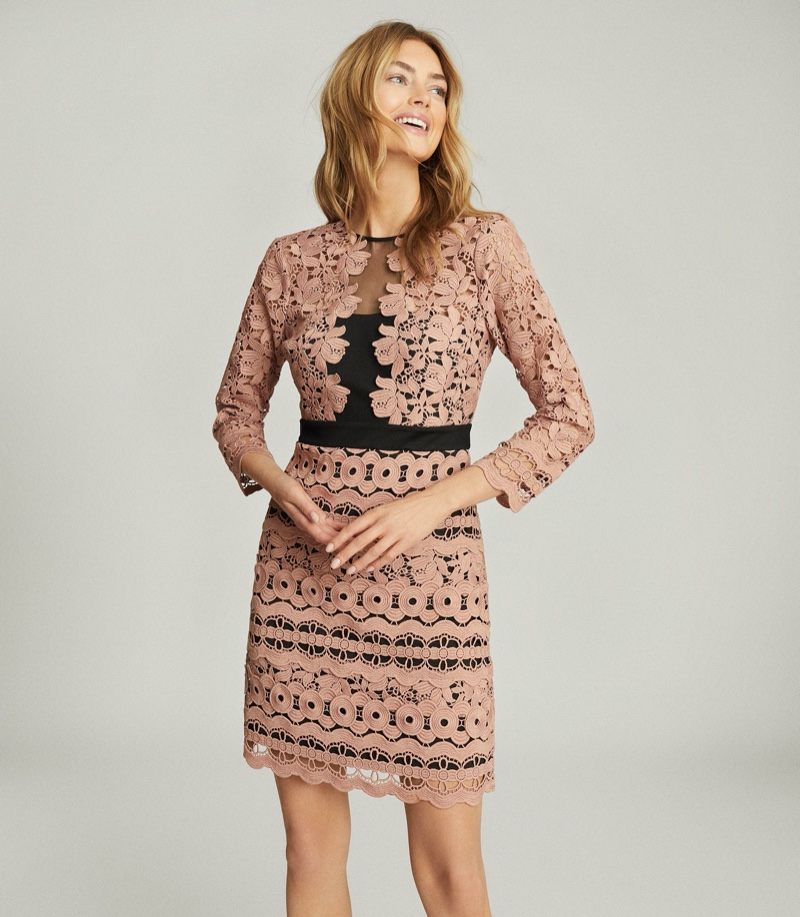 Reiss Lenny Lace Mini Dress $445