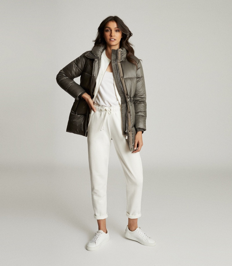 Reiss Lilah Mid Length Puffer Jacket $645