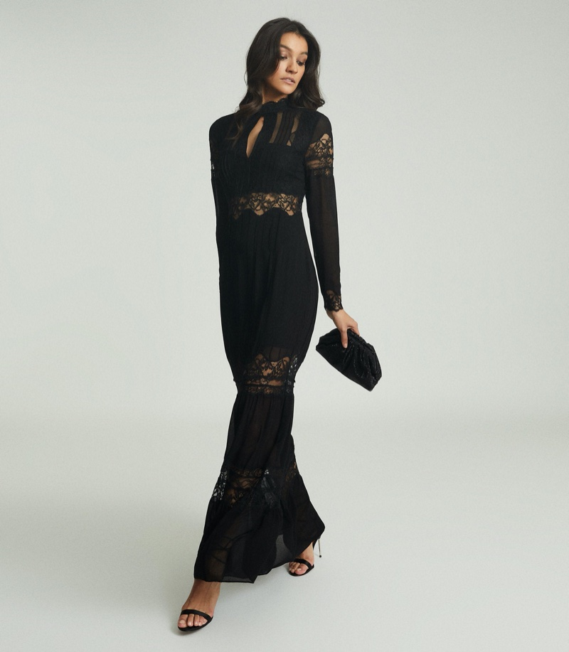 Reiss Miranda Open Back Lace Maxi Dress $660