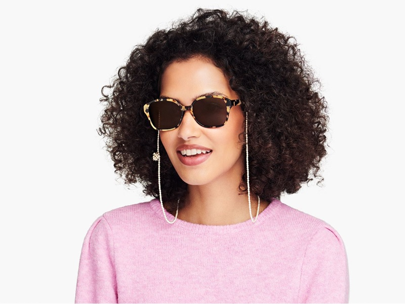Roxanne Assoulin x Warby Parker Eyewear Chain in Glossy Moonflower $60